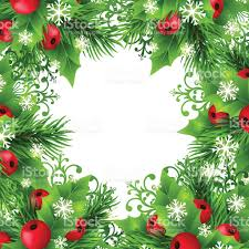 christmas background with fir and holly decorations stock vector