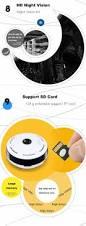 360 degree wireless ip camera fisheye ir night vision 1080p hd