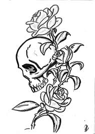 roses and skulls drawing at getdrawings com free for personal use