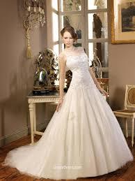 sleeveless wedding dress organza sleeveless wedding dress with illusion boat