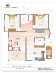 Duplex House Plan And Elevation Sq Ft Kerala Home Ground Floor 1 Bhk Duplex House Plans