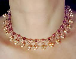 beaded pearl necklace images Free pattern beading pearl necklace tutorial 1 beaded necklace jpg