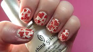 arcadianailart easy polka dot hearts nail art tutorial