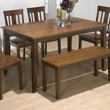 Jofran Kura Espresso And Canyon Gold TwoTone Solid Rubberwood - Rubberwood kitchen table
