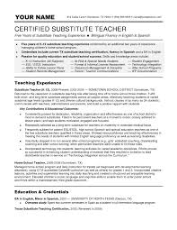 How To Write A Resume For Kids Sample Resume For Home Economics Teacher