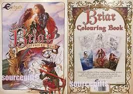 briar colouring book dragon fairy fantasy art