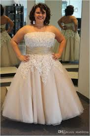 high wedding dresses 2011 discount chagne plus size wedding dresses strapless ankle