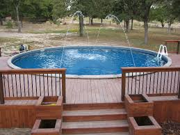 outdoor above ground pool prices installed decks for above