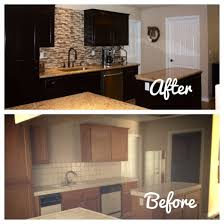 brown cabinets turned grey love this makeover lowescreator with
