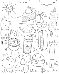 Free Downloadable Summer Fun Coloring Book Pages Coloring Book Page