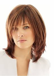 sliced layered chin lengt bob with bangs mommentary well liked medium short hairstyles beauty pinterest