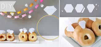 brunch bridal shower ideas easy diamond ring donuts kate aspen