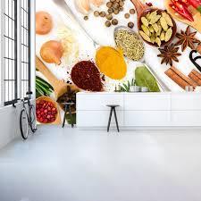 decor mural cuisine herbs spices wall mural food wallpaper kitchen restaurant photo