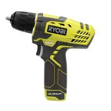 ryobi 8 volt lithium ion drill kit hp108l the home depot
