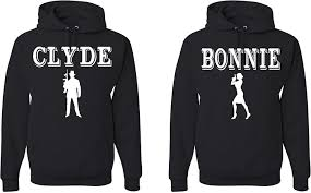bonnie clyde unisex matching couples hoodies at s
