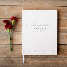 wedding book wedding guest book wedding guestbook custom guest book