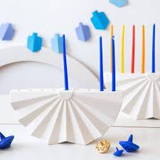 ceramic menorah studio armadillo modern geometric white ceramic hanukkah menorah