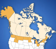 map us states bordering canada border map tbwg