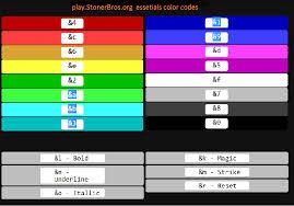 color codes color code bukkit forums