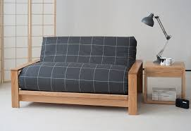 oak futon sofa bed panama solid oak sofa bed base with futon in a new wool cover new