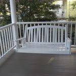 highwood lehigh porch swing in coastal teak magnolia porch swings