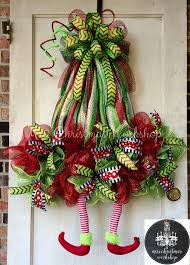 wreath wreath with legs deco by mrschristmasworkshop