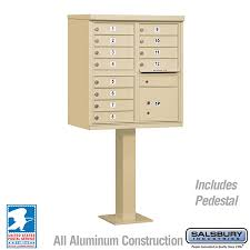 Pedestal Mailbox Cluster Box Unit Includes Pedestal 12 Doors Type Ii Usps