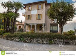 hotel il perlo panorama bellagio lake como italy stock photo