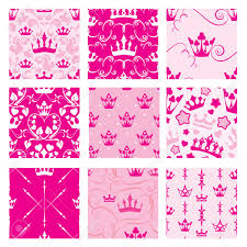 seamless backdrop set of pink backgrounds with princess crowns seamless backdrop