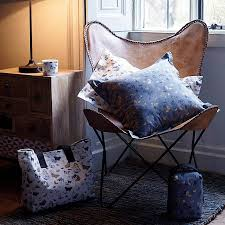natural leather butterfly chair by ella james notonthehighstreet com