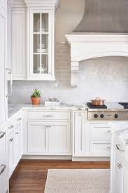 Lovely Interesting White Kitchen Backsplash Tile Backsplash And - White kitchen cabinets with white backsplash