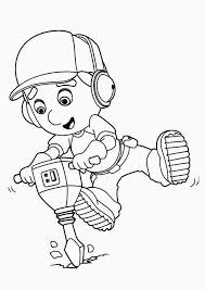 handy manny using drill machine coloring page download u0026 print