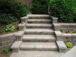 Brick Stairs Design Outdoor Concrete Block Stairs Design Ideas Beating The Grade