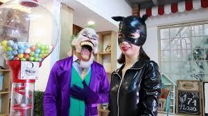spiderman frozen elsa prank halloween harley quinn vampire