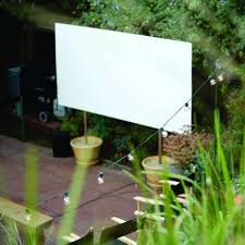 creating an outdoor home theater sfgate