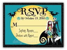 nightmare before wedding rsvp cards di 5050rsvp