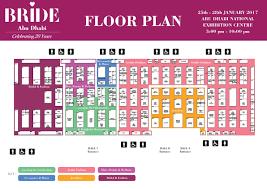 Fashion Show Floor Plan by Bride Exhibitor List