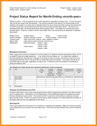 project monthly status report template 7 monthly status report template parts of resume