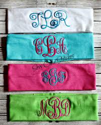 monogrammed knit headbands