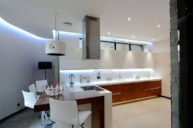 modern kitchen design trends 2016 with recessed light above sink