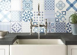 blue tile kitchen backsplash kitchen top 15 patchwork tile backsplash designs for kitchen blue