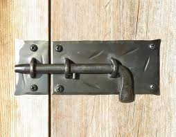square cabinet door latch pull rings slide bolt hand forged metal