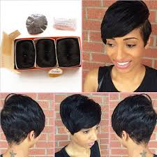 pics pf extentions with short hair brazilian human short hair extensions 27 pieces short human