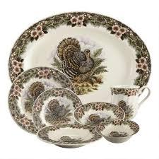 churchill thanksgiving china dinner plates set of 2