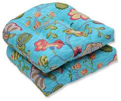 arabella caribbean wicker seat cushions set of 2 tropical