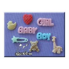 baby silicone icing moulds for cake and cupcake decoration