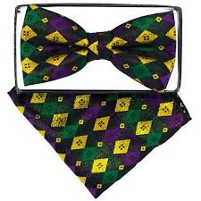 mardi gras bow tie mardi gras bow ties with matching handkerchief 3 step n style