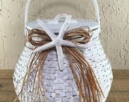 Basket For Wedding Programs Beach Wedding Basket
