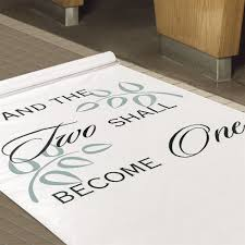 aisle runners two shall become one aisle runner invitations by