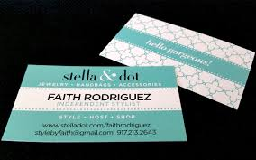 Stella And Dot Business Cards Dizmajiz Faith Rodriguez
